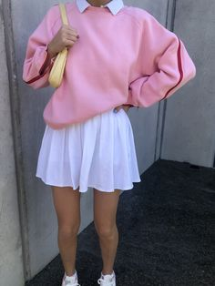 Adrette Outfits, Skater Girl Outfits, Fall Fashion Outfits, Retro Outfits, Girly Outfits, Cute Casual Outfits, Look Fashion, Vintage Outfits, Pink Skirt Outfits