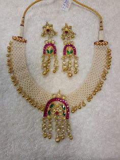 Fancy Jewellery, Gold Jewellery Design, Bead Jewellery, Temple Jewellery, Designer Jewelry, Moon Jewelry, Pearl Jewelry, Indian Jewelry, Bridal Jewelry