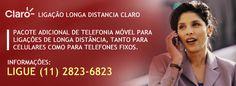 Plano para ligação longa distancia claro #claro Faça economia nas ligações  utilizando esse plano de telefonia móvel da Claro.