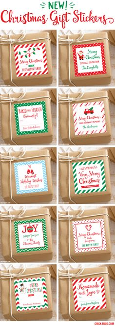 Personalized Christmas gift stickers, now available at Chickabug. They make your Christmas presents extra pretty, and there's no way for the tag to fall off! Source by chickabug Christmas Present Tags, Handmade Christmas Gifts, Personalized Christmas Gifts, Very Merry Christmas, Christmas Tag, Holiday Crafts, Christmas Ideas, Christmas Ornaments, Christmas Stickers Printable