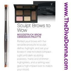 Younique New Product, 2017 Moodstruck Brow Obsession Palette & Brow Artist Brush. Brows that wow! Younique Party Games, Brow Palette, Make It Simple, Make Up, Eyelash Tinting, Younique Presenter, Perfect Brows, Makeup Brands, Light In The Dark