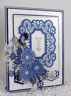 Happy Monday, As I have such a fondness for Blue I thought it might make sense to have the occasional Blue Monday featuring a card with . Sue Wilson Dies, Heartfelt Creations Cards, Spellbinders Cards, Die Cut Cards, Flower Cards, Flower Making, I Card, Wedding Cards, Cardmaking