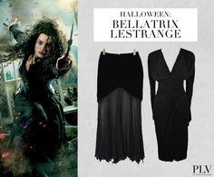 Wer ist das? Eine verrückte Anhängerin von Voldemort: https://www.youtube.com/watch?v=8HpUr2OGf7Y  Was macht den Look perfekt? Einen Zauberstab und ihr leicht wahnsinniger Blick.  Wo find ich das Outfit? http://www.plvfashion.ch/de/promotion/226/harry-potter-bellatrix-lestrange