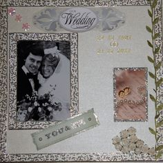 Scrap on  canvas for our 30th wedding Anniversary