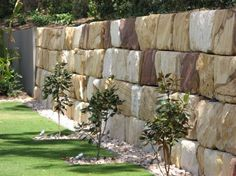 sandstone block walls - Google Search