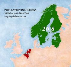 Total population of Netherlands/Belgium and the Nordic/Baltic States (Belgium, Census, Europe) History Timeline, History Memes, Planet Map, Map Diagram, European Map, City Maps, Historical Maps, Countries Of The World, Belgium