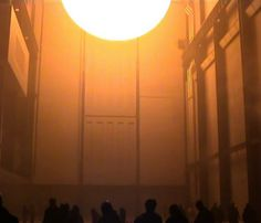 The weather project by Studio Olafur Eliasson. Documentation of The weather project, 2003