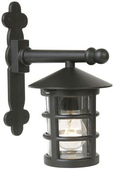 Lights Outside Tavistock Black External Lantern | Departments | DIY at B&Q