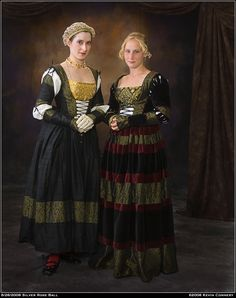 More German pretty. (Repin, adding: I love the simplicity of the gown on the left)