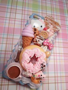 SALE Bakery Sweets Hello Kitty Kawaii Decoden Deco by Lucifurious, $35.00