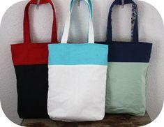 Reversible 2 coloured tote bag tutorial!