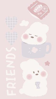 Cute Pastel Wallpaper, Soft Wallpaper, Cute Patterns Wallpaper, Bear Wallpaper, Cute Anime Wallpaper, Aesthetic Pastel Wallpaper, Wallpaper Iphone Cute, Matching Wallpaper, Cute Wallpaper Backgrounds