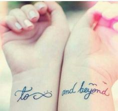 'to infinity and beyond' tatts.