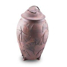 Embracing Ginkgo Ceramic Cremation Urn | OneWorld Memorials