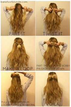 hair bow- I've already pinned this. But this one has step by step instructions :)