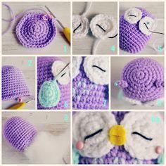Búho Amigurumi - Paso a paso Octopus Crochet Pattern, Owl Crochet Patterns, Owl Patterns, Knitting Humor, Loom Knitting, Cute Crochet, Crochet Baby, Patron Crochet, Hama Beads Design