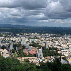 Arunachalesvara Temple at Thiruvannamalai. One of the five panchabhuta lingas. Paris Skyline, Temple, Dolores Park, Hinduism, Travel, Voyage, Temples, Viajes, Traveling