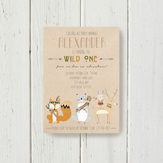 Invitation from a Woodland Animal Birthday Party via Kara's Party Ideas KarasPartyIdeas.com (41)