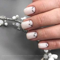 Cute Acrylic Nails, Cute Nails, Pretty Nails, Manicure Nail Designs, Manicure Y Pedicure, Aycrlic Nails, Hair And Nails, Nails Ideias, Ivory Nails