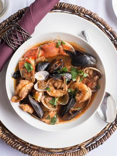 Cioppino - Spicy Fisherman's Stew in a tomato and wine broth