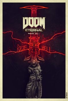 Doom 4, Doom Game, Video Game Posters, Video Game Art, Doom 2016, Heavy Metal Art, Gaming Posters, Game Character Design, Gaming Wallpapers