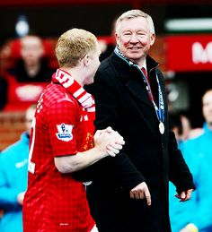 Sir Alex Ferguson & Scholes