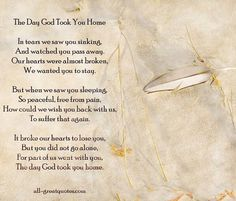 Beautiful poem about loss