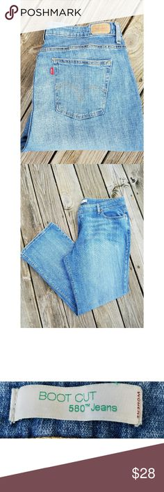 Levis 580 Boot Cut Jeans Levis 580 Boot Cut Jeans 100% Cotton Size 22  Like New Condition Levis Jeans Boot Cut