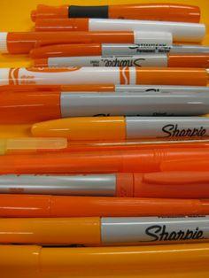 I ❤ COLOR NARANJA ❤ el marcador anaranjado