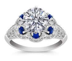 Hale Pave Diamonds Engagement Ring
