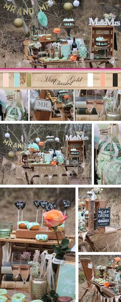 Mint & Gold Classics für die Hochzeitsdekoration <3 Zauberhaft mit Mint & Gold und einem Hauch Apricot - vereint mit zarter Spitze, eleganten Elementen, Naturmaterialien und einer feinen Portion Glitzer & Glamour für den ganz besonderen Look mit Classic-Charme!