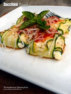 Zucchini Ravioli looks amazing, and tastes even better!