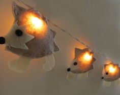 Hedgehog Nursery Night Light, Nursery Decor, Baby Shower Gift, String Lights, Woodland Theme by bubblewish on Etsy https://www.etsy.com/ca/listing/128137809/hedgehog-nursery-night-light-nursery