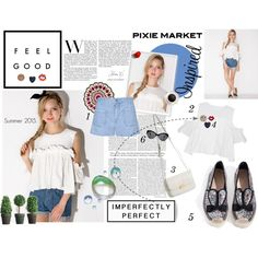 #pixiemarket Summer Style with Pixie-Market! by minojka on Polyvore featuring nuLOOM, Anya Hindmarch, summerstyle, pixiemarket and summer2015