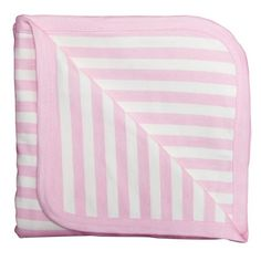 Infant Girl's Monica + Andy 'Coming Home' Organic Cotton Blanket ($38) ❤ liked on Polyvore featuring home, children's room, children's bedding, baby bedding and pink stripe