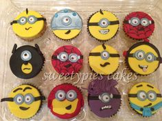 Minion Cupcakes by Sweetypies cakes & Snack Boxes, Dubai, United Arab Emirates. You'll find this Cake Appreciation Society Member in our Directory at www.cakeappreciationsociety.com