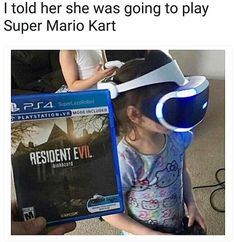 You gon' learn today (@superlazyrobot is hysterical ) #residentevil #residentevil7 #oculus #horror #kid #kids #vr #supermariokart #nintendo #playstation #playstation4 #xbox #xboxone #xboxonex #scary #halloween #october #spooky #memes #meme #memesfordays #memeoftheday #memesdaily #dankmemes #dank #survivalhorror #gaming #gamer #gamingmemes