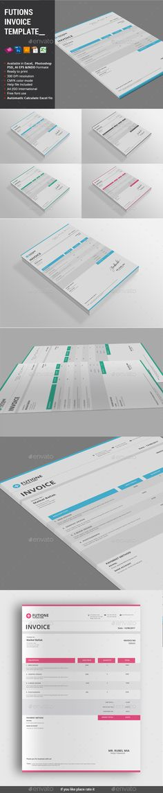 Business Invoice Template Template, Business and Text color - microsoft word proposal templates
