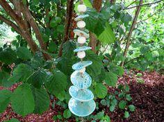Keramik Windspiel round about blau Garten Dekoration von gedemuck, €19.00