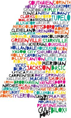 MISSISSIPPI State Digital illustration makes a great Christmas gift. Make it custom by highlighting your city!