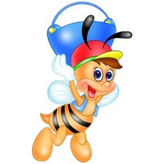 Honey Bees Cartoon Insect Clip Art Images Are Free To Copy For Your Own Personal Use.All Images Are On A Transparent Background Honey Bee Cartoon, Cartoon Bee, Cute Cartoon Animals, Cartoon Clip, I Love You Honey, Bee Free, Butterfly Clip Art, Cute Bee, Cute Clipart