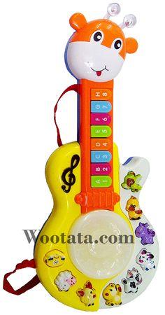 Jual Guitar Animal World Mainan Gitar Untuk Anak Usia 2 Tahun Mainan musik gitar lucu Guitar Animal World ini berbentuk gitar mini dengan bentuk jerapah dengan 2 tanduk berbentuk bola yang bisa menyala di bagian atas gitar. Pada leher gitar terdapat 8 tombol dan di bagian body gitar terdapat juga…