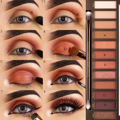 Beste Make-up Hacks Eyeliner Urban Decay Ideen - Beauty Eye Makeup Tips, Makeup Goals, Skin Makeup, Eyeshadow Makeup, Makeup Inspo, Makeup Ideas, Makeup Brushes, Beauty Makeup, Makeup Hacks