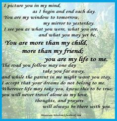 You Are More Than My Child....