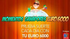 Has probado ya el subidón seguro de los #momentosganadores de Euro 6000 ?