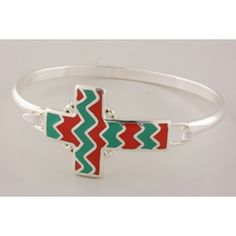 Turquoise and coral chevron bracelet ... go to Red River Cowgirl Clothing Company on Facebook.