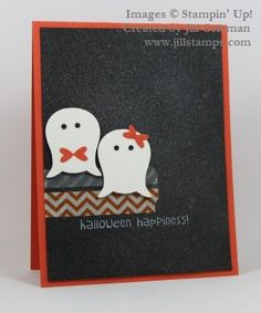 FTL258 Punch Art Ghosts Make Halloween Happiness by jillastamps - Cards and Paper Crafts at Splitcoaststampers