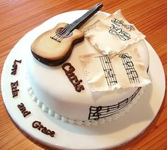 Cake decorating, guitar and notes :)