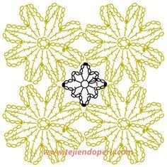 Cómo tejer un a flor o pastilla redonda a crochet
