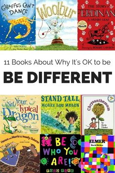 Help kids understand why it's OK to be different with these children's books